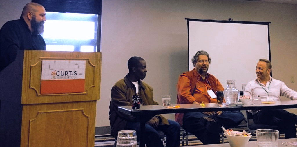 bolaji, dave taylor, eric elkins at type-a west dad influencer panel