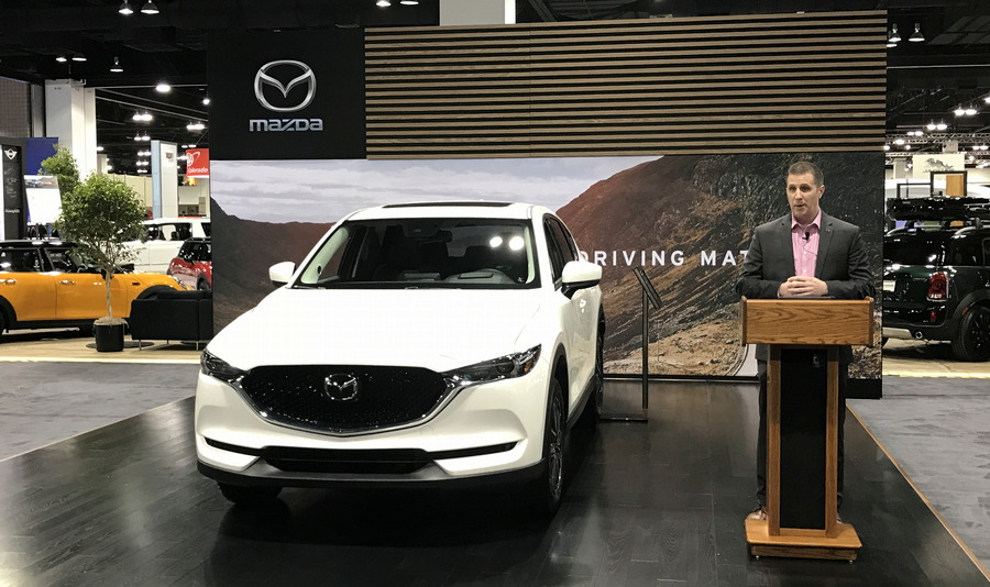 mazda presentation, denver auto show, 2017 mazda cx-5