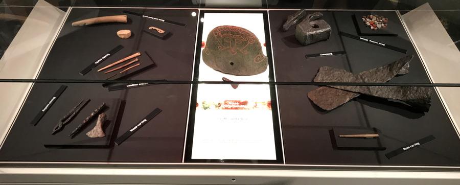 tools display, vikings exhibit, dmns