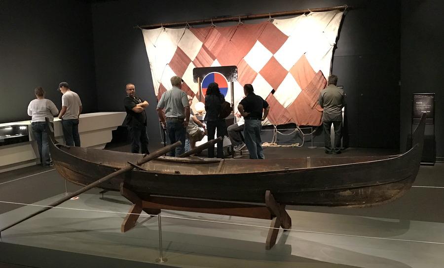 viking canoe boat at denver dmns exhibit