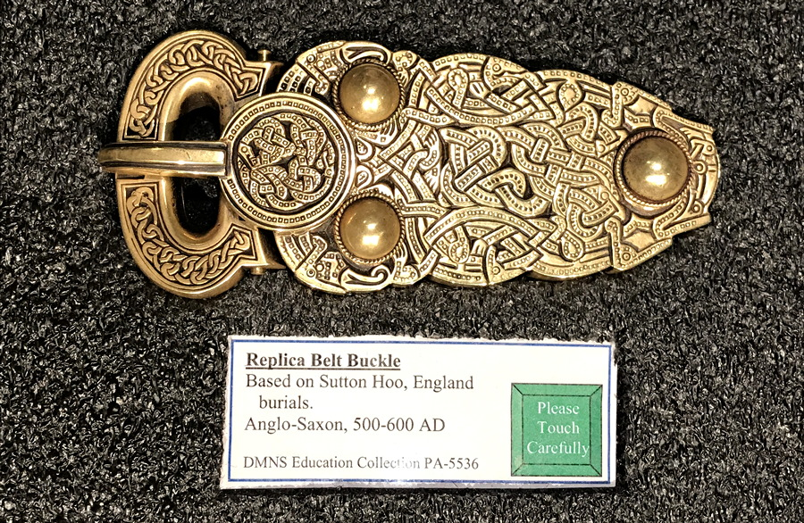 norse belt buckle, dmns viking exhibit