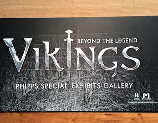 the vikings - beyond the legend - signage at dmns