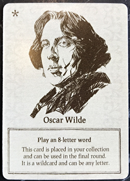 oscar wilde card, movable type card word game