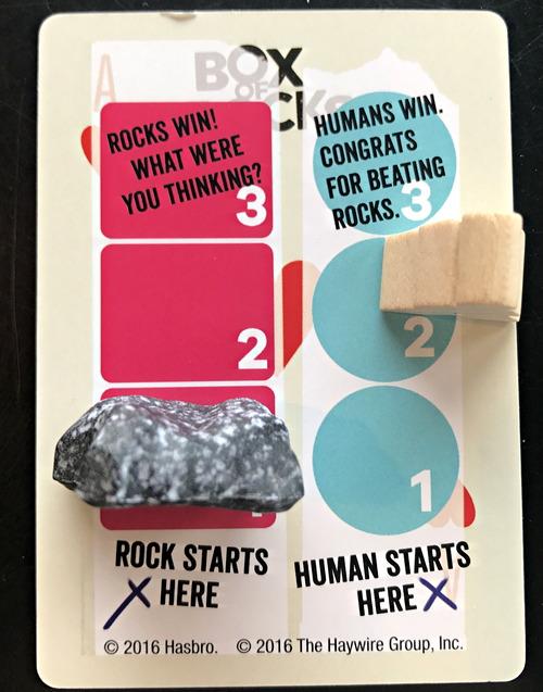 box of rocks trivia game score card