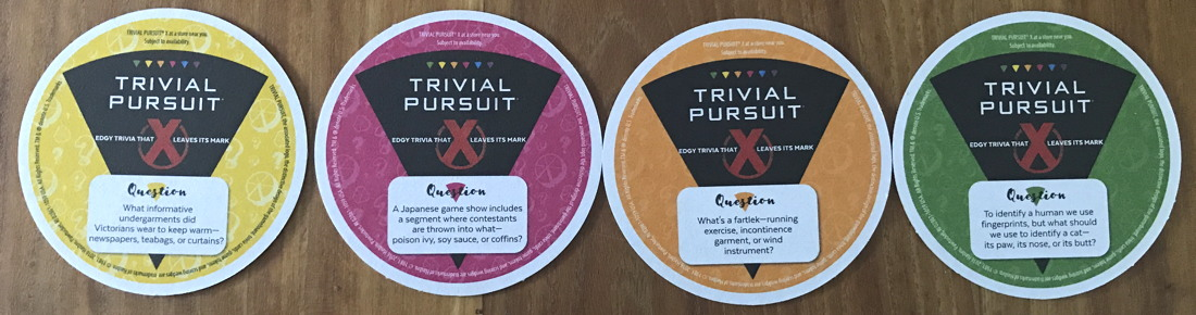 trivial pursuit coasters hasbro