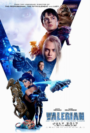 valerian and the city of a thousand planets movie poster one sheet