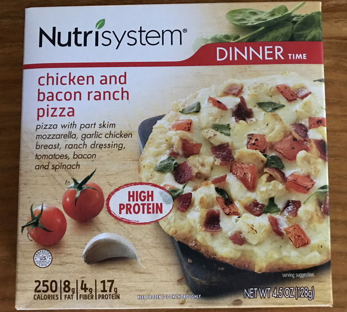 nutrisystem chicken and bacon ranch pizza