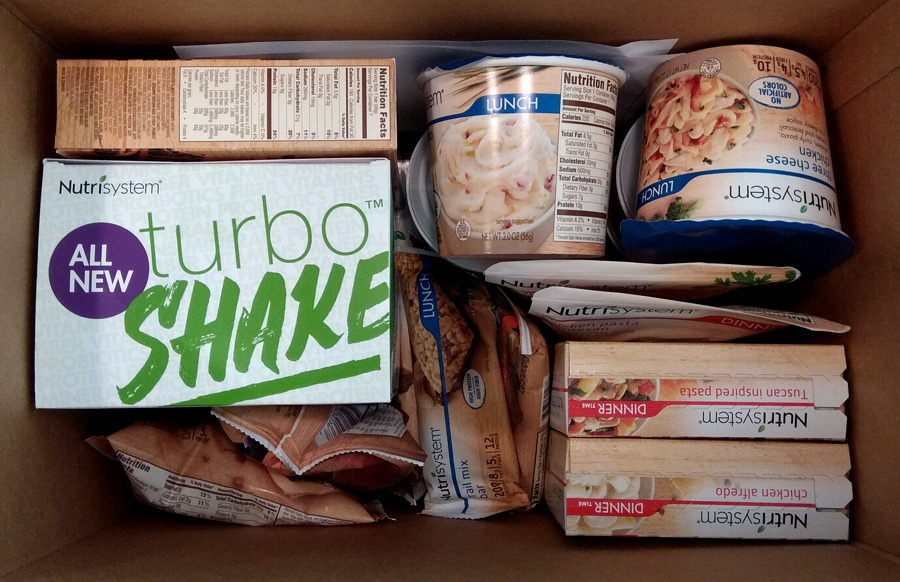 nutrisystem turbo takeoff box of food