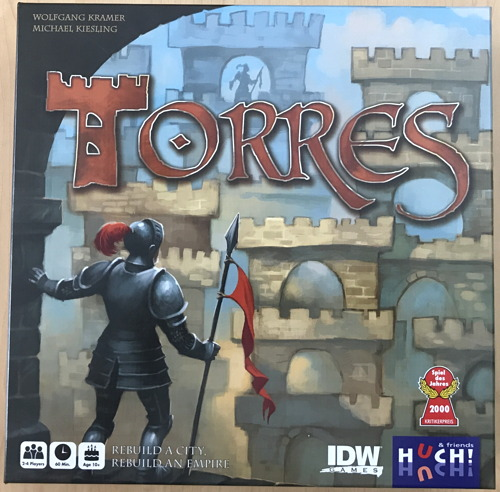 torres board game, box, idw games