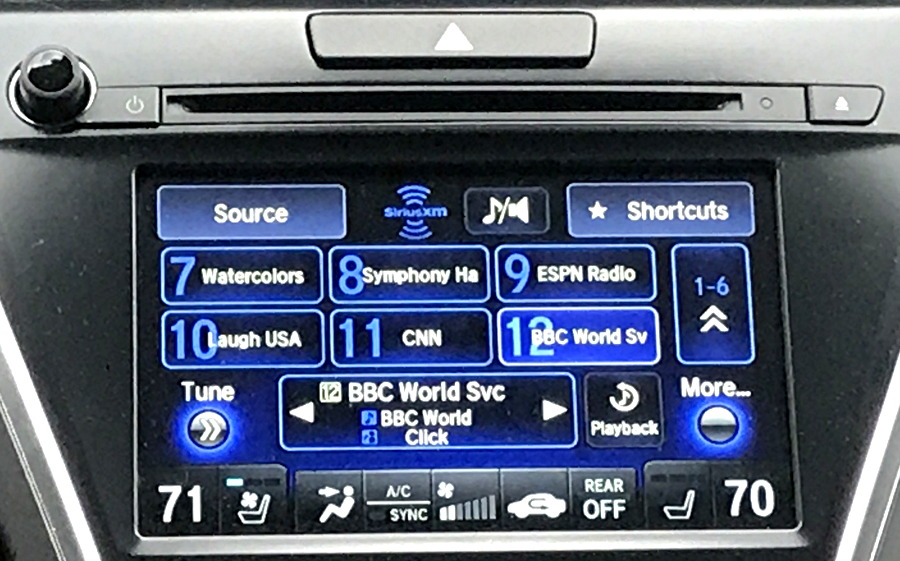 xm radio in 2017 acura mdx