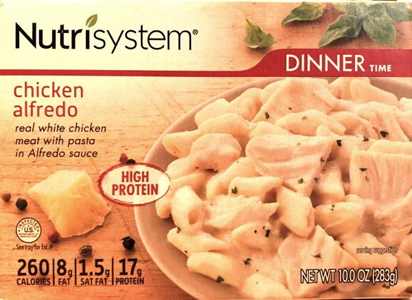 nutrisystem chicken alfredo box