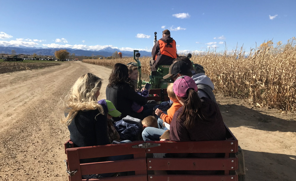 anderson farms - mine cars - tractor tour