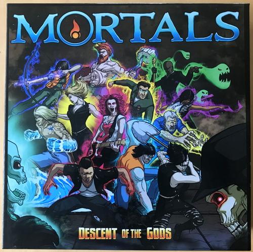 mortals coop board game box