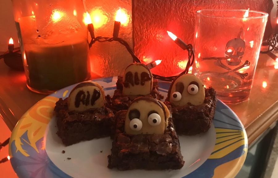 brownie tombstones - halloween party food