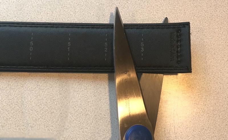 cutting leather belt - trakline