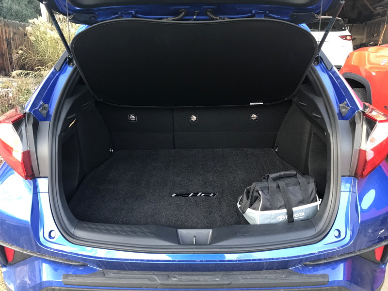 2018 toyota chr rear compartment