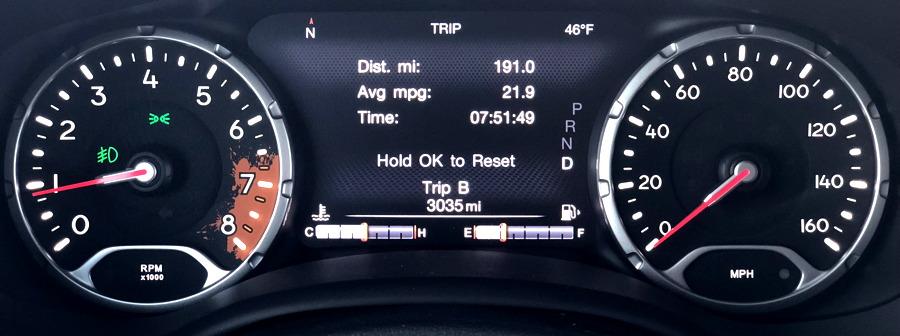 2017 jeep renegade dashboard gauges