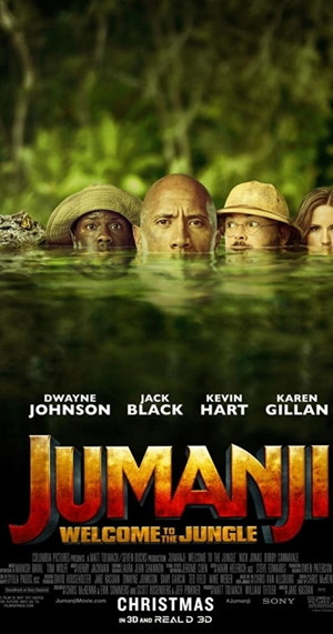 jumanji welcome to the jungle movie poster one sheet