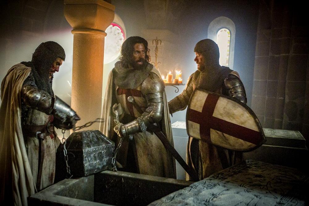 knightfall publicity still photo history channel knights templar