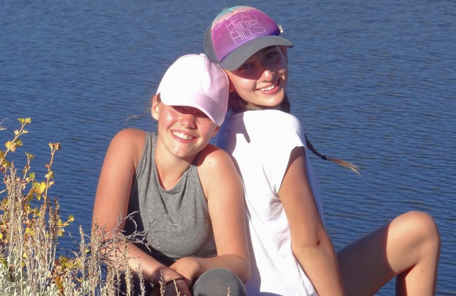 two girls - best friends - bff