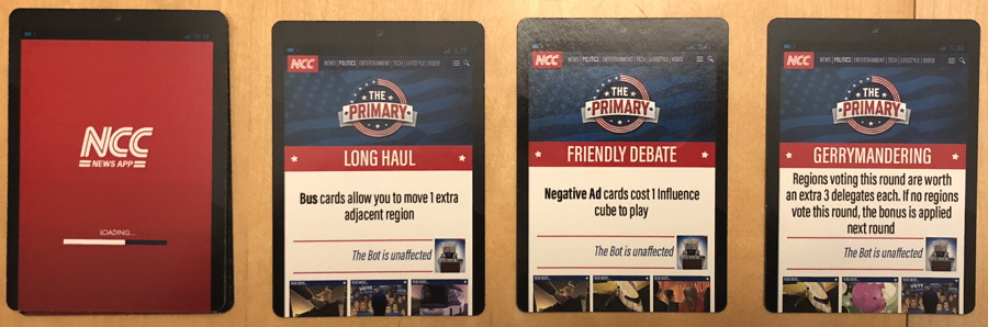 the primary news action cards