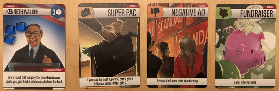 example action cards, the primary board game
