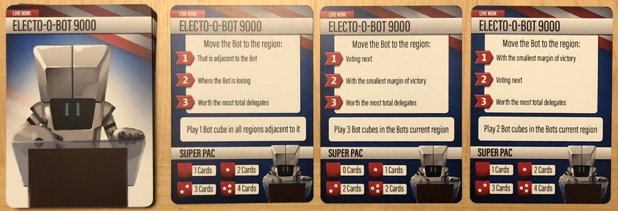 the primary card board game - electobot robot