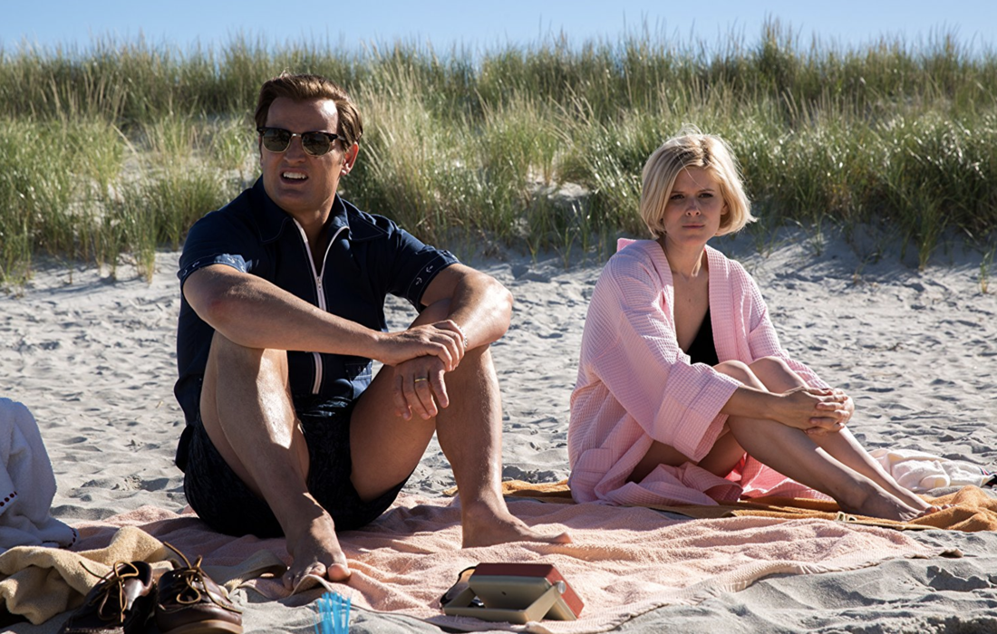 "Kennedy (Jason Clarke) and Kopechne (Kate Mara), from ""Chappaquiddick"""