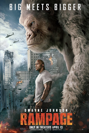rampage movie poster one sheet