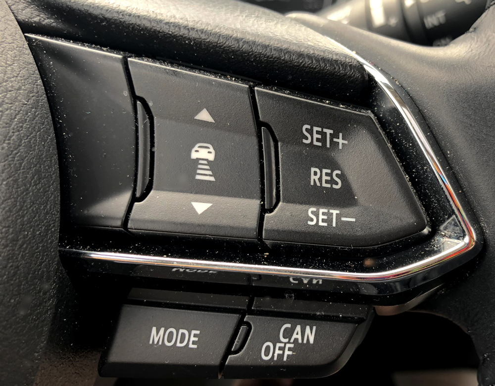 2017 mazda cx-5 steering wheel buttons controls detail