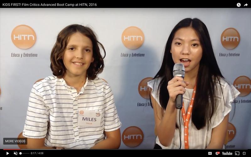 film critic boot camp - kids on camera - film critics