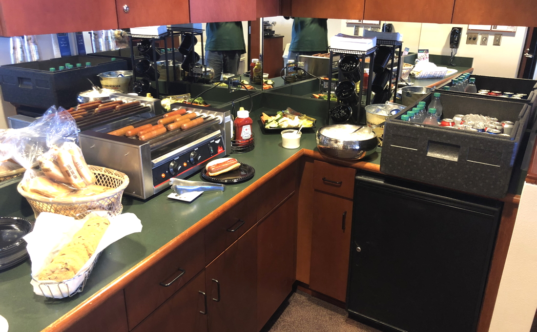 catering in box, coors field