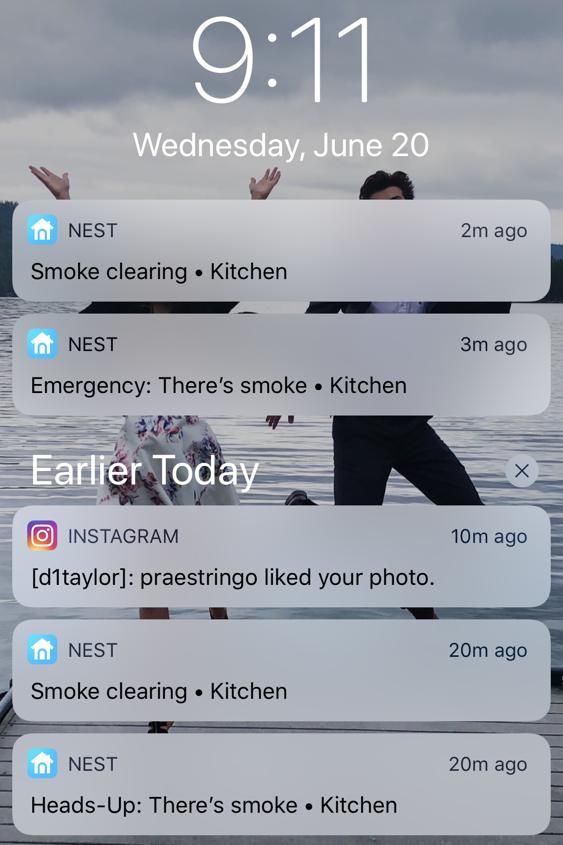 nest smoke alarm warning alert