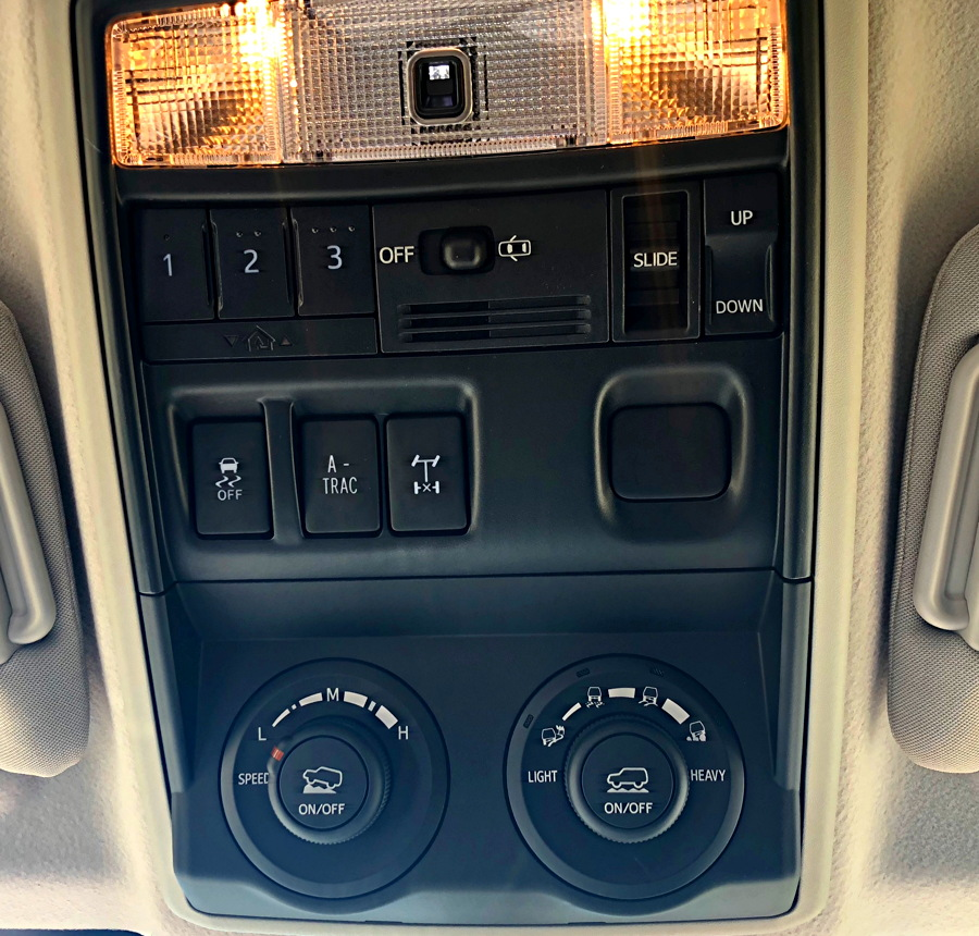 overhead traction controls, 2018 toyota 4runner