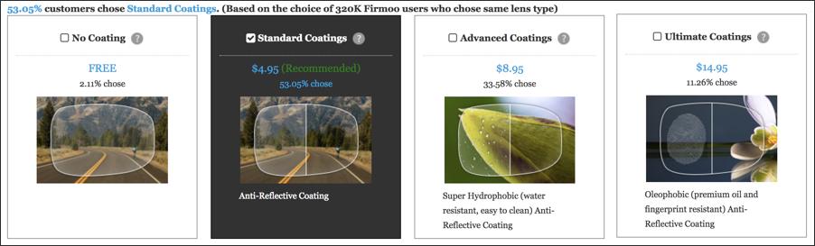 glass coating options, firmoo