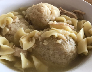 matzoh ball soup chicken home made