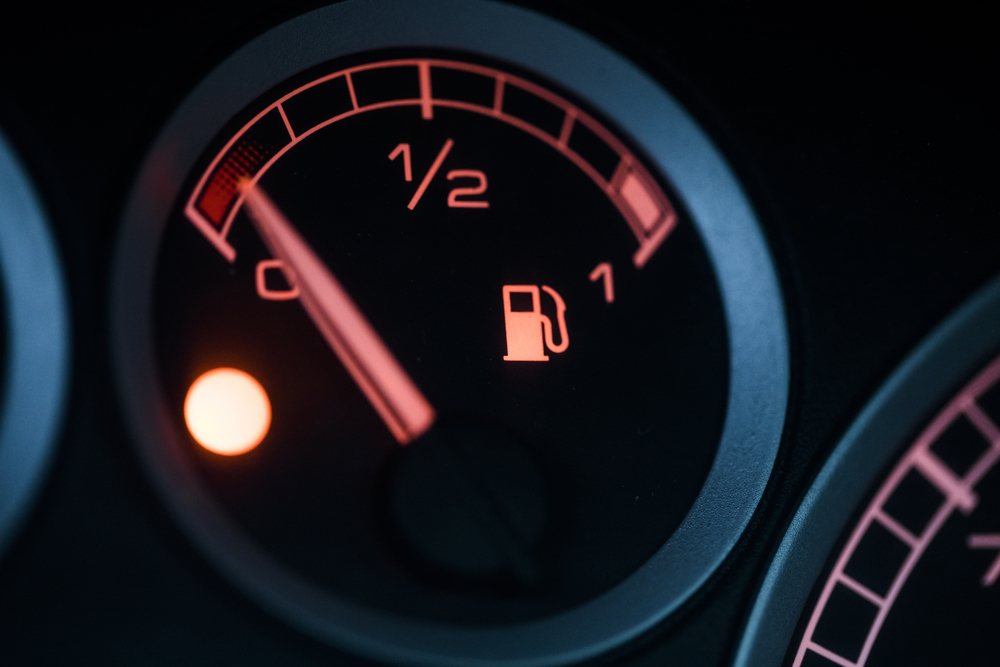 gauge out of gas