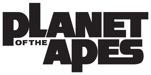 planet of the apes type logo treatment font