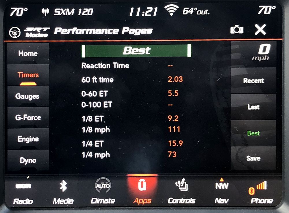 2018 dodge duranog srt performance stats analytics