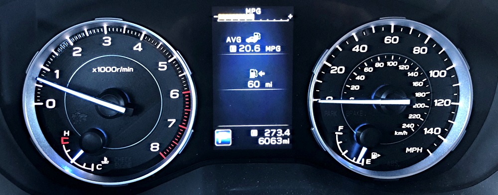 2019 subaru ascent - main dashboard gauges