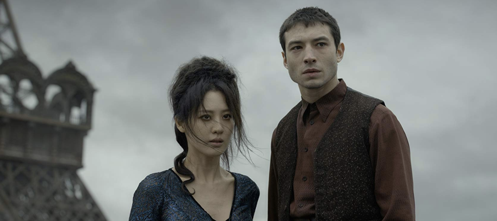 """Nagini (Claudia Kim) and Credence (Ezra Miller), from """"Fantastic Beasts: The Crimes of Grindelwald"""""""