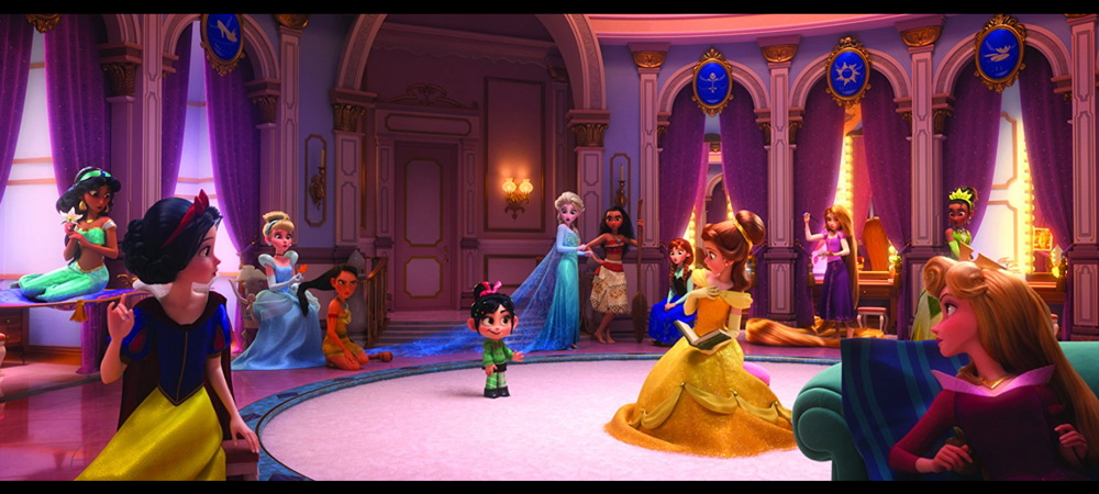 vanellope meets the disney princesses, ralph breaks the internet