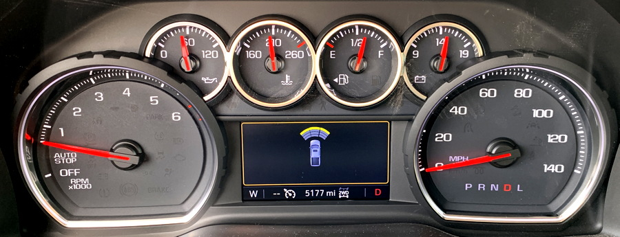 2019 silverado main gauge display front radar