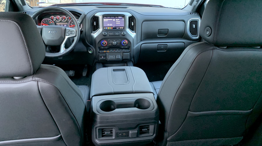 massive center console, 2019 chevrolet silverado