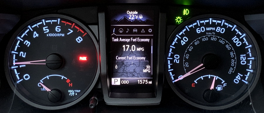 2019 toyota tacoma trd - dashboard gauges
