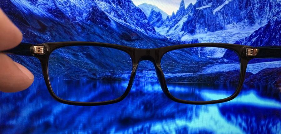 pixel eyewear and blue imagery