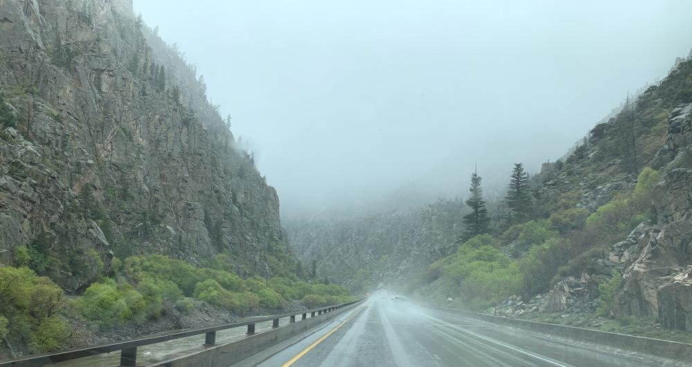 golden co mountains rockies rain fog