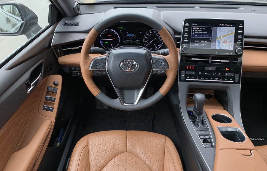 2019 toyota avalon hybrid - interior