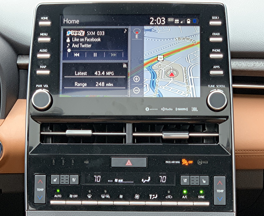2019 toyota avalon entertainment console