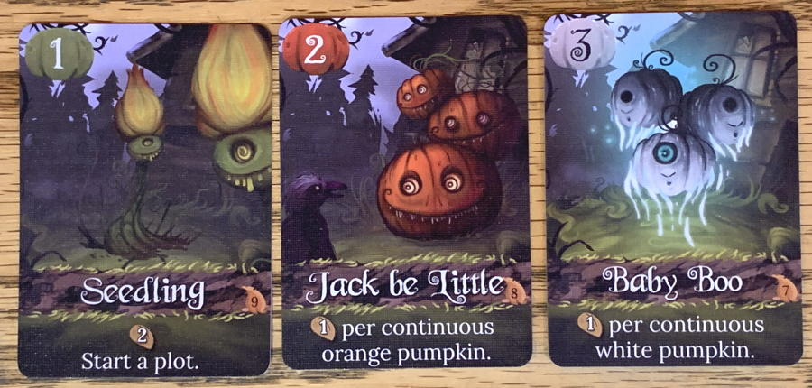 pumpkin patch bad seeds - close up pumpkin cards